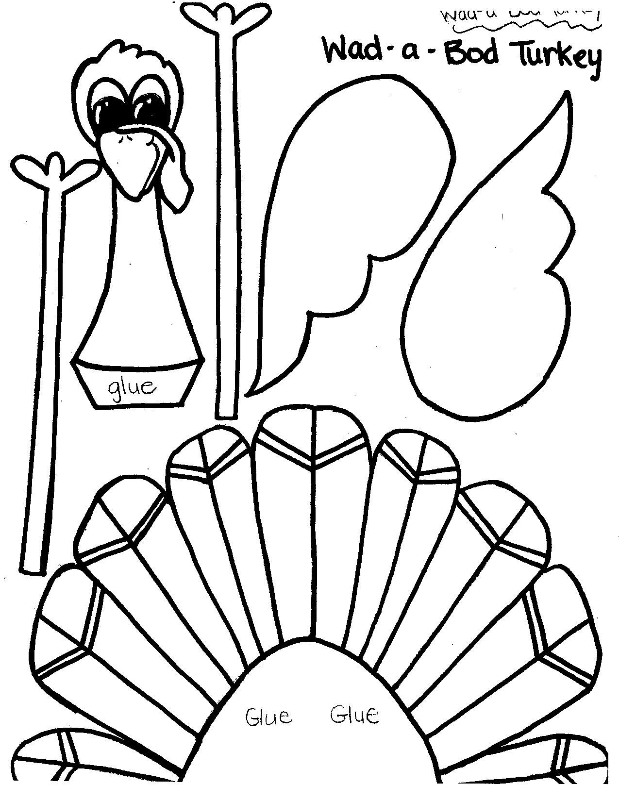 Uncategorized Turkey Printables printable thanksgiving crafts and activities for kids bhgs time kids