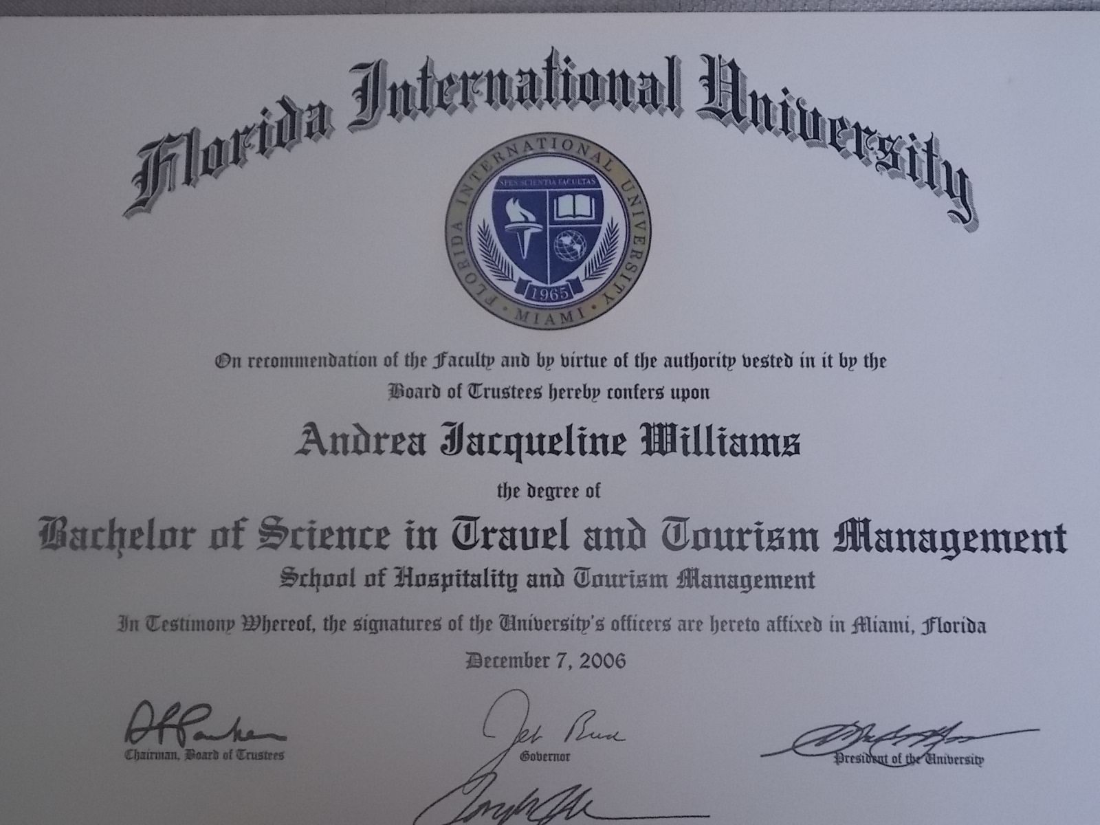 Bachelors of Science in Tourism Mgt.