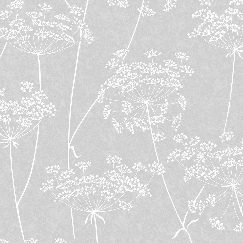 Graham & Brown Athena Grey/White Wallpaper The Home