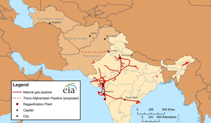 A Map Of India S Natural Gas Infrastructure