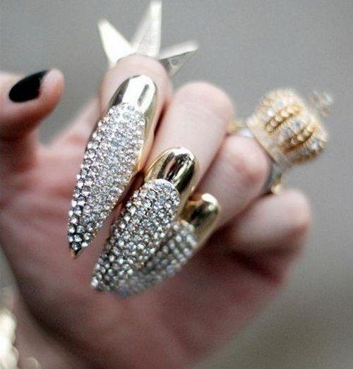 Wow Nails Pinterest Diamond Nail Designs Diamond Nails