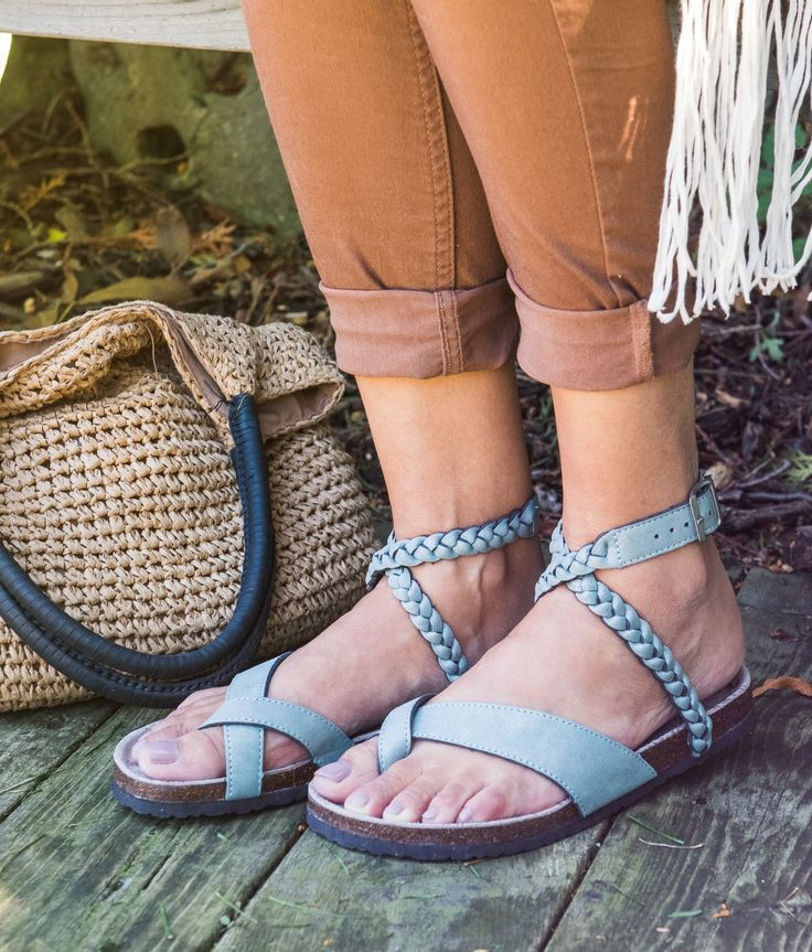 6393f6bea950 Add some boho flair to your summer wardrobe with our MUK LUKS  Estelle flat  thong sandals. With a braided wrap around ankle strap and toe loop detail