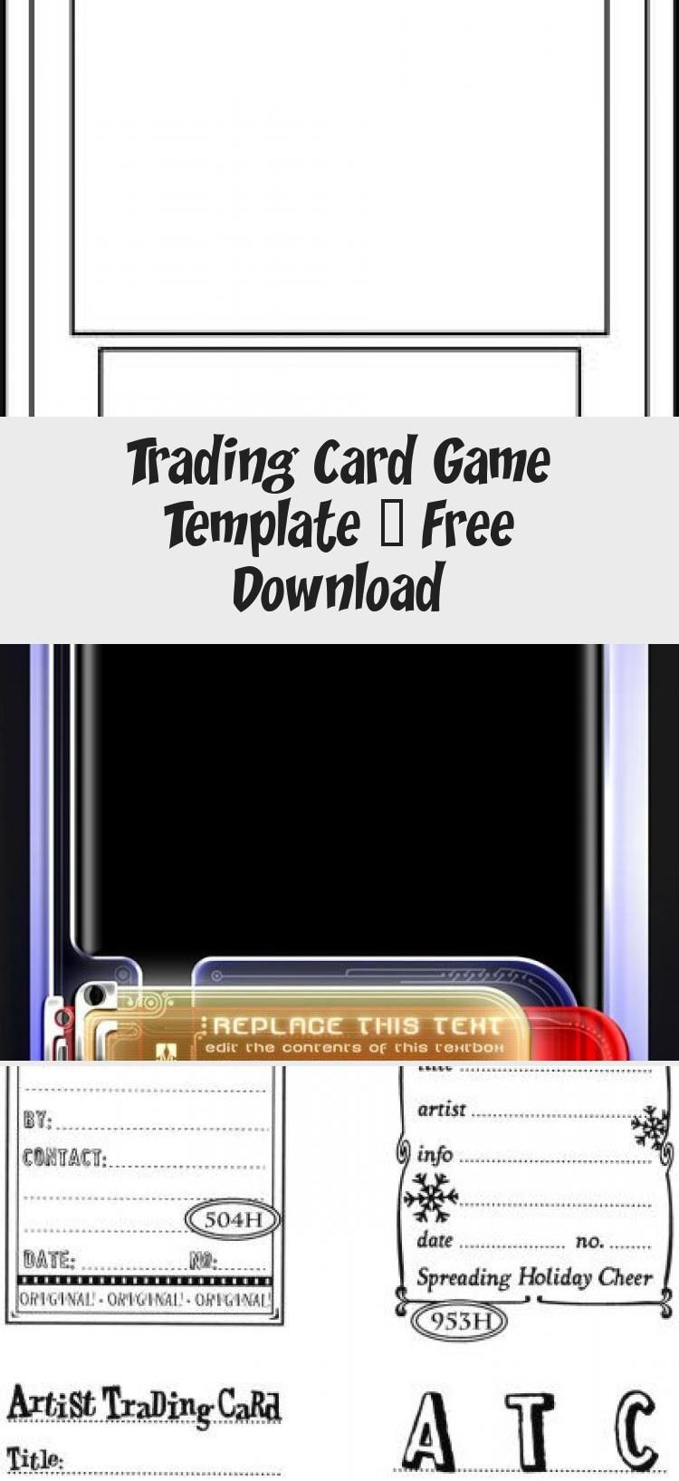 Trading Card Game Template Free Download Birthdaycardsonline Baseball Card Template Card Games Trading Card Template