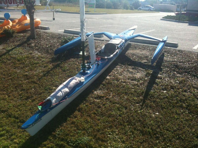 18' TRIAK Kayak / Sailboat / Trimaran   Boat, Yacht and Sail