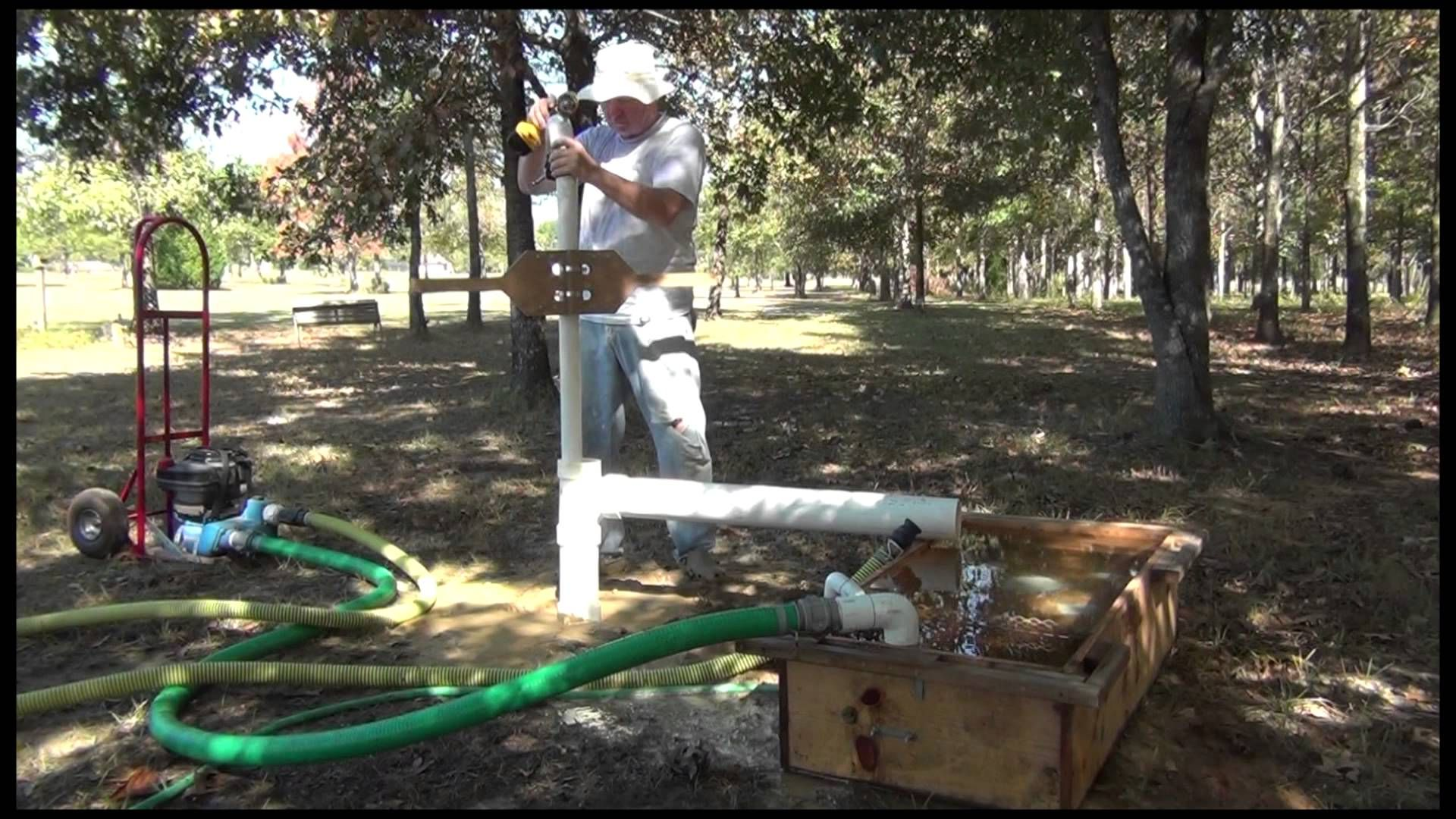Drill your own well series mud pump portable mud pit