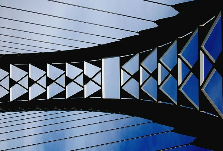 Lines And Shapes : Bridge with shapes lines photograph at betterphoto