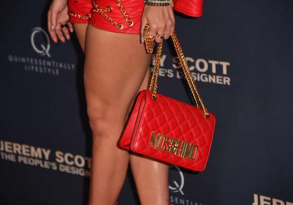 "Singer Rita Ora, fashion detail, attends the premiere of The Vladar Company's ""Jeremy Scott: The People's Designer"" at TCL Chinese 6 Theatres on September 8, 2015 in Hollywood, California."