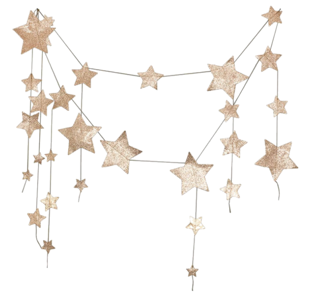Pin By Unnamed Vagabond On Miscellaneous Items Star Garland Gold Glitter Glitter Stars
