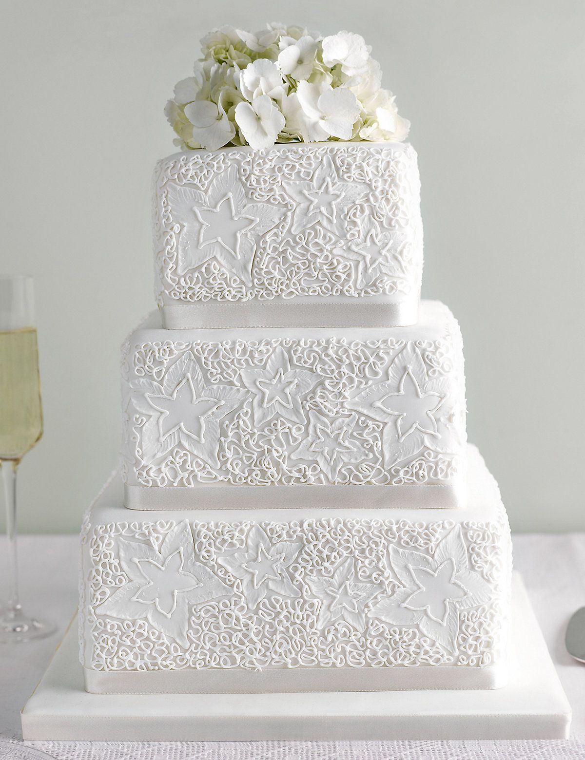 Why have just one type of wedding cake? Two tiers of all-butter ...