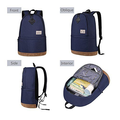 Hexin Student Book Bag Laptop Backpack With Computer Compartment College 35l Continue