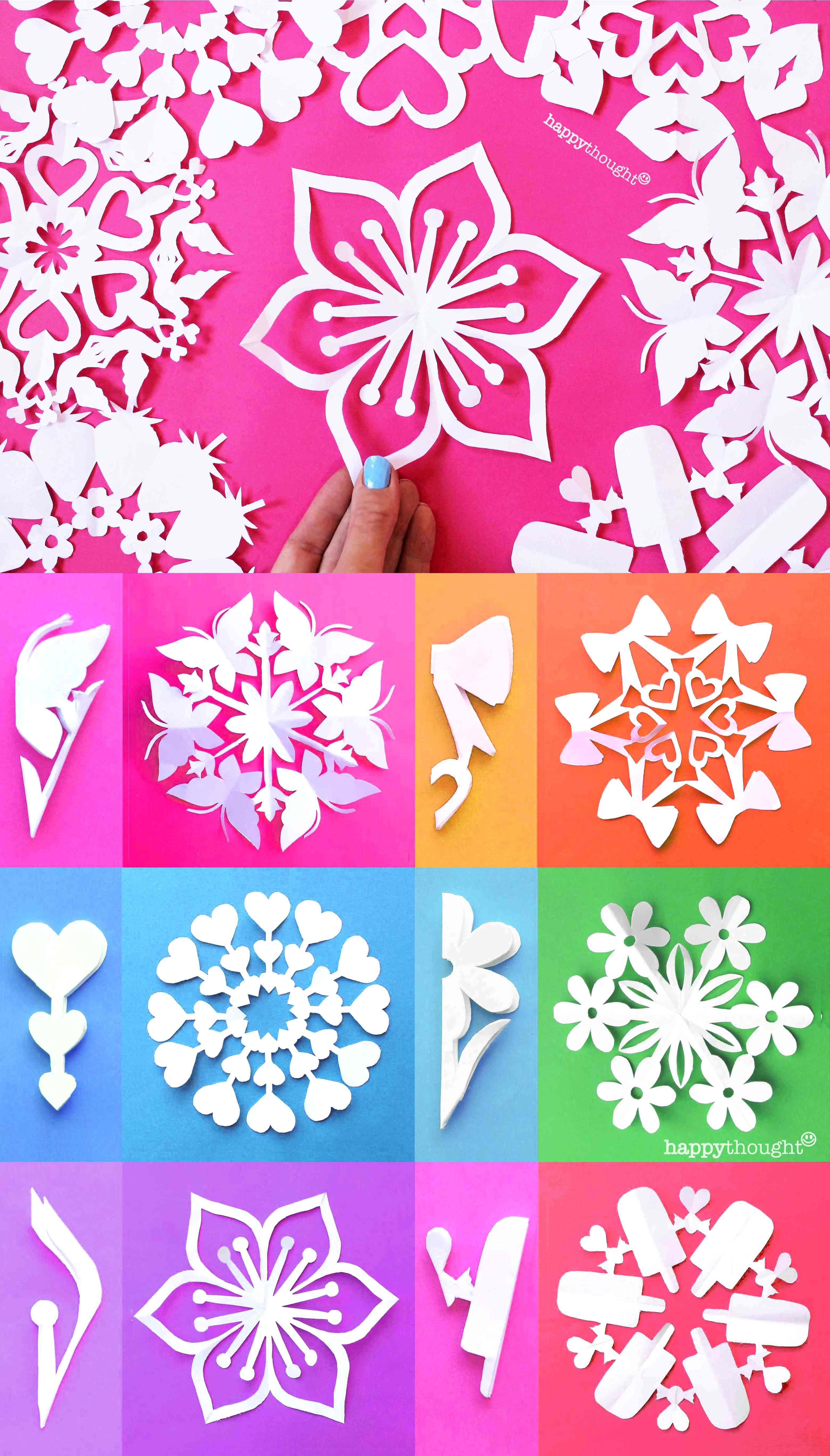 Valentine Snowflake Templates Easy Homemade Diy Tips