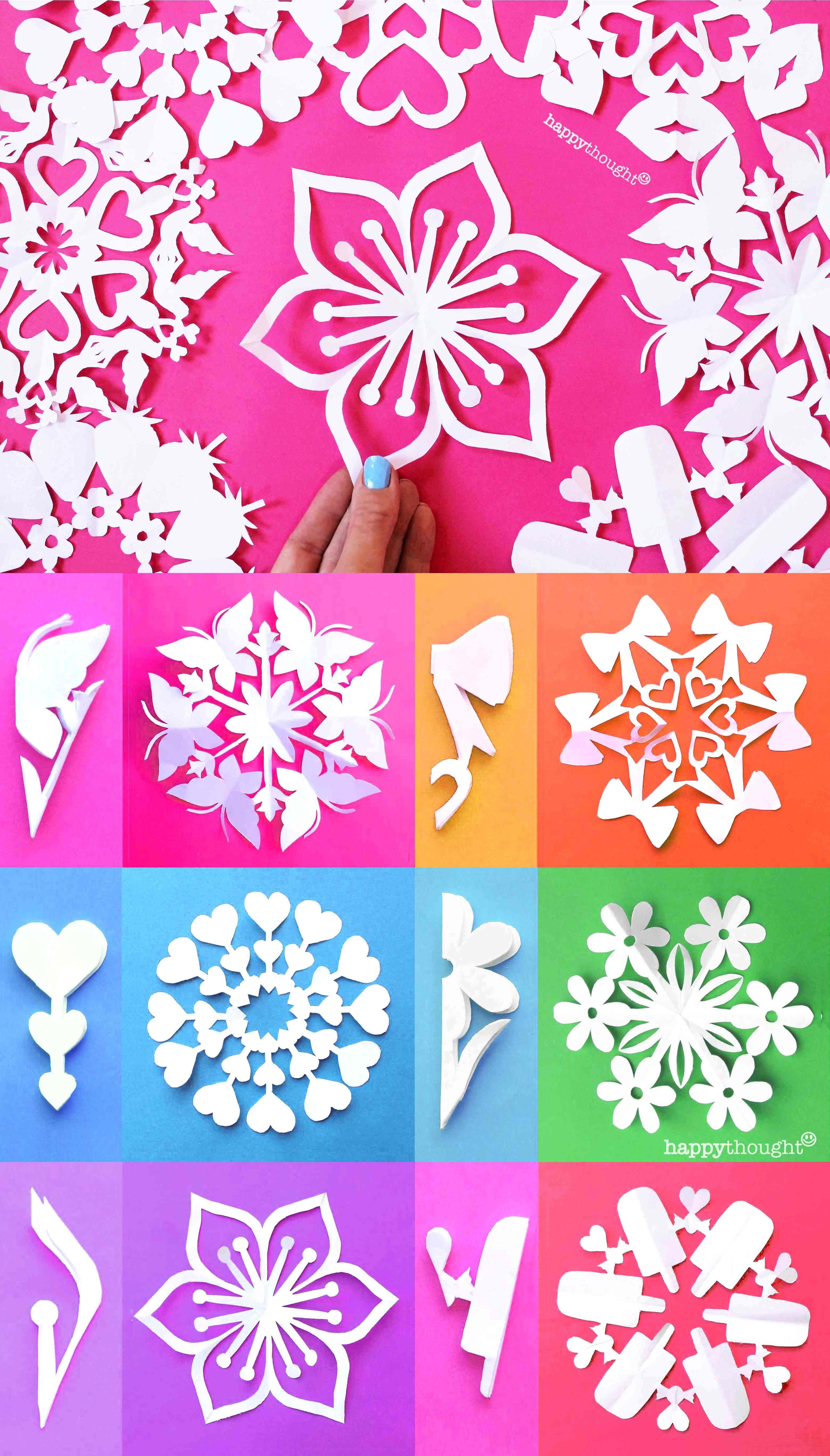 Valentine Snowflake Templates Easy Homemade Diy Tips