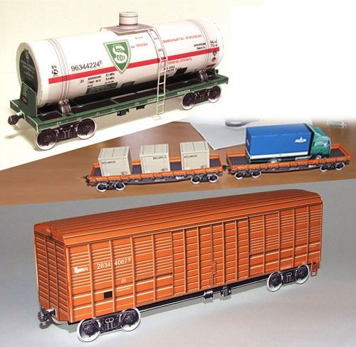 Wagons Paper Models HO Scale