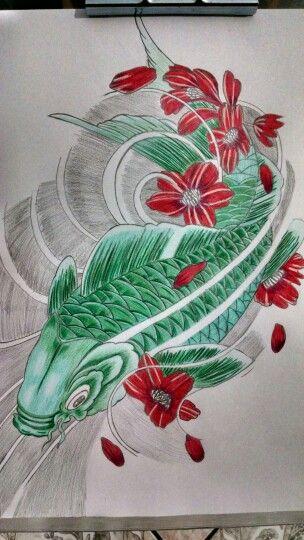 Carpa Verde Desenho De Carpas Desenhos Verde