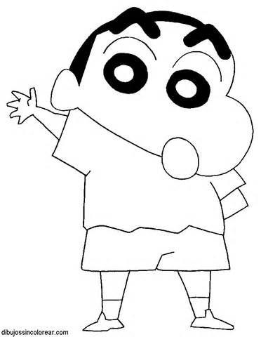 Dibujos Sin Colorear: Dibujos de Shin Chan para Colorear | m ...