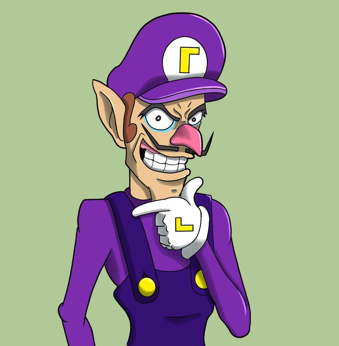Waluigi By Mikenicoart On Twitter Super Mario Mario Characters Mario