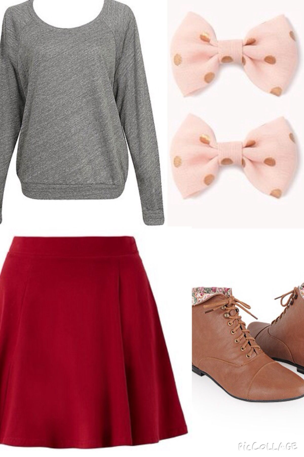 This is the perfect outfit for the fall time. When I think of fall clothes, I think of some what dark colors. And this just describes the perfect outfit for the fall!