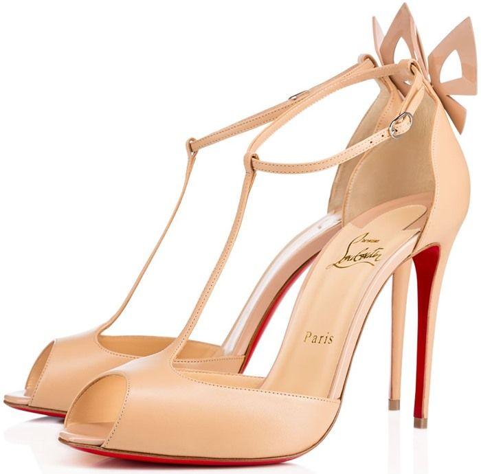 1d0b77c1da80 Christian Louboutin  Aribak  Bow-Embellished T-Bar Sandals
