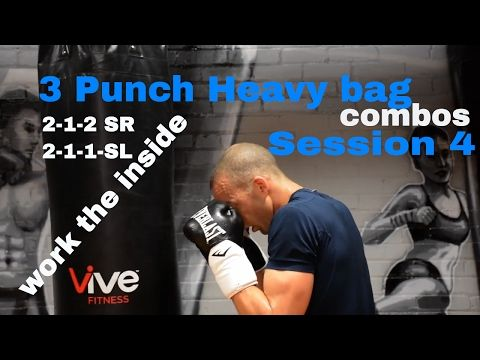 Beginner Boxing 3 Punch Heavy Bag Combos You