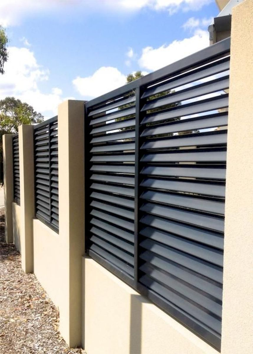 01 easy creative privacy fence design ideas | Modern fence ... on Gate Color Ideas  id=49246