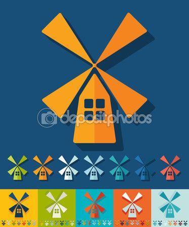 Деревянная мельница значок — Векторная картинка #71513625 ...