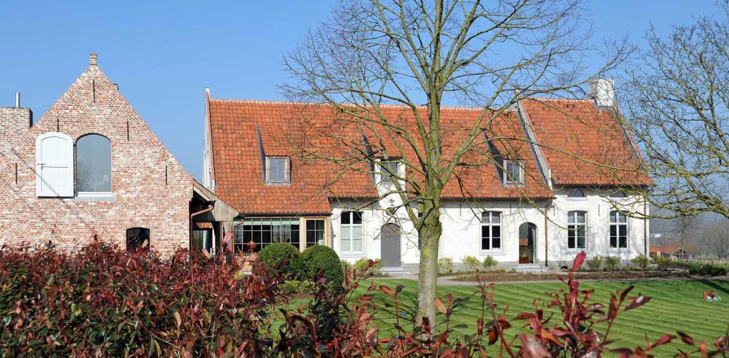 Voorbeeld renovatie oude hoeve met hoog en laag deel huizen pinterest exterior design - Oude huis renovatie ...