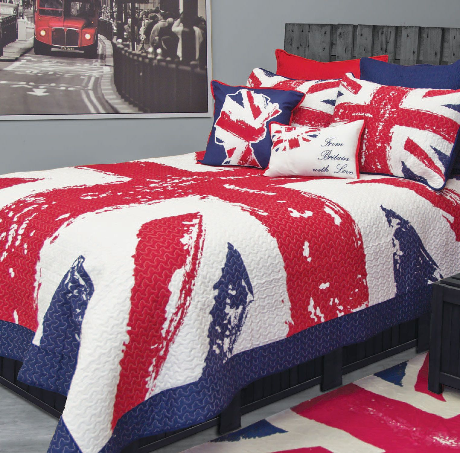 union jack really want this for summer quilt 100 cotton. Black Bedroom Furniture Sets. Home Design Ideas