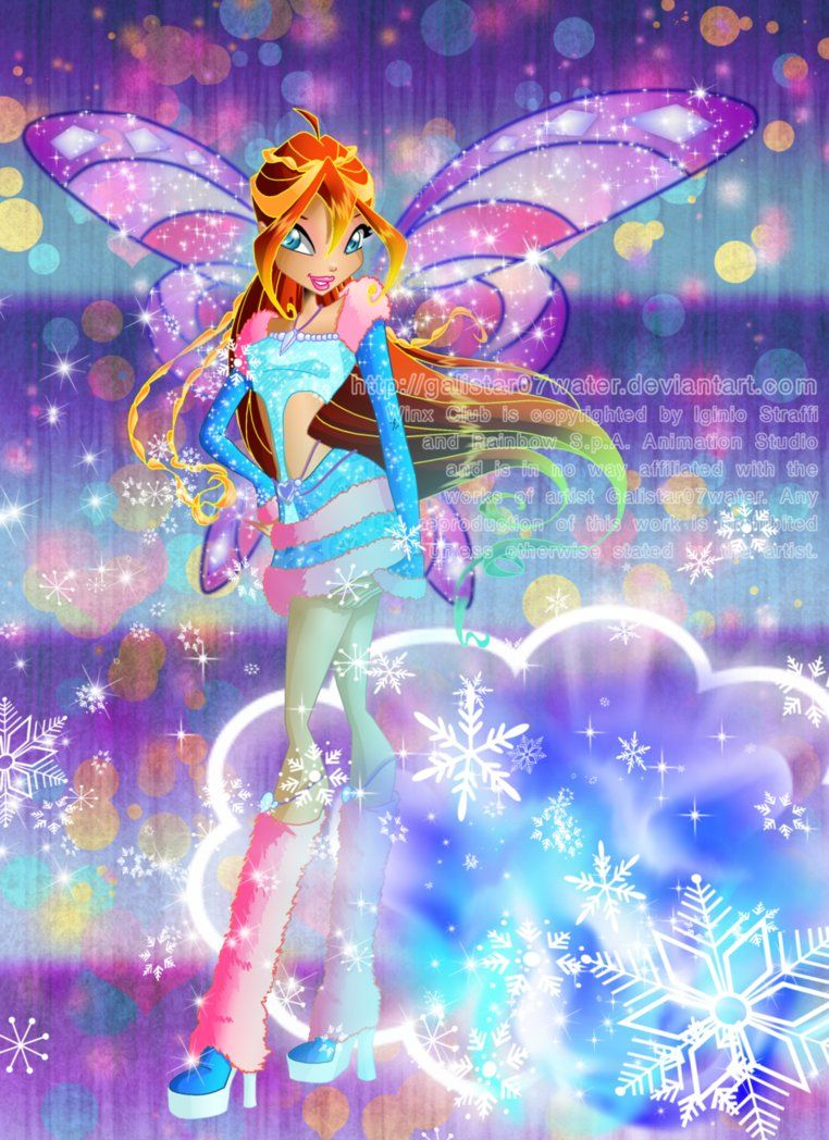 Ice Flame Is The Name Of Bloom S Lovix Power Of Courage Against The North Fairy In Her Frozen Fortress Bloom Winx Club Winx Club Fairy Artwork