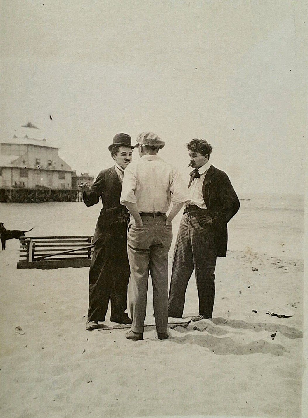Rarely Seen Candid Photos of Charlie Chaplin While Filming on Venice Beach,  California, ca. 1914 These rarely seen photographs may be from on-site at  the ...