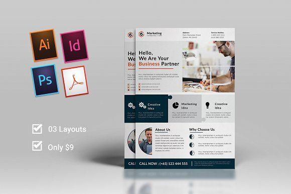 Corporate Flyer By Ahsanjaya On Creativemarket Templates Design - Adobe illustrator flyer template