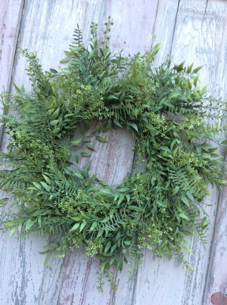 Green Wreath, Front door wreath, All Season Wreath, wreath for front door, Summer Wreath, Spring Wreath, door Wreath, double door wreath #doubledoorwreaths