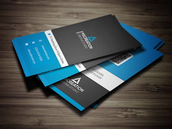 Creative Vertical Business Card Businesscards - Vertical business card template psd