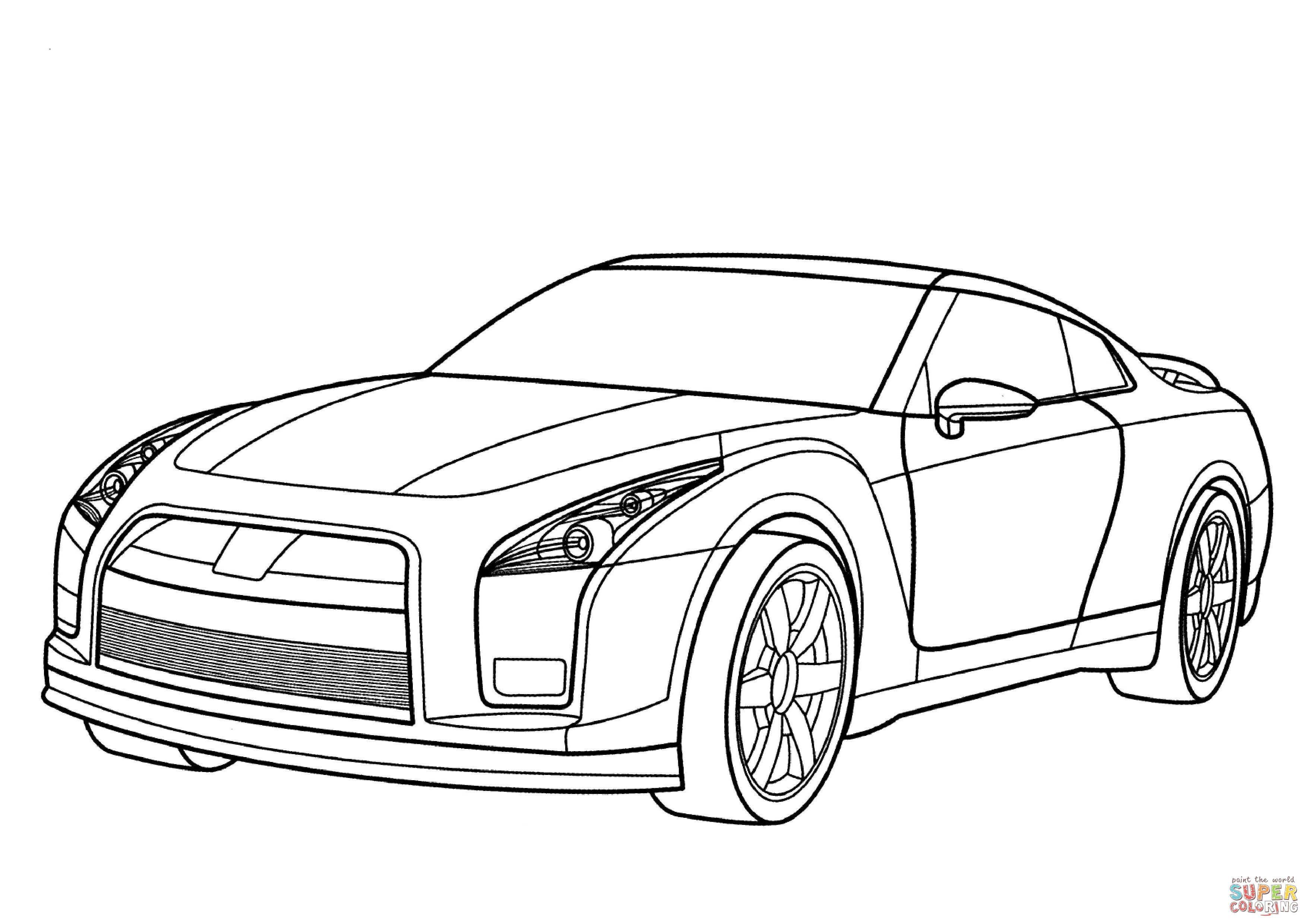 Kleurplaten Auto Ford Mustang.Nissan Gtr Kleurplaat Gratis Kleurplaten Printen Design Gtr
