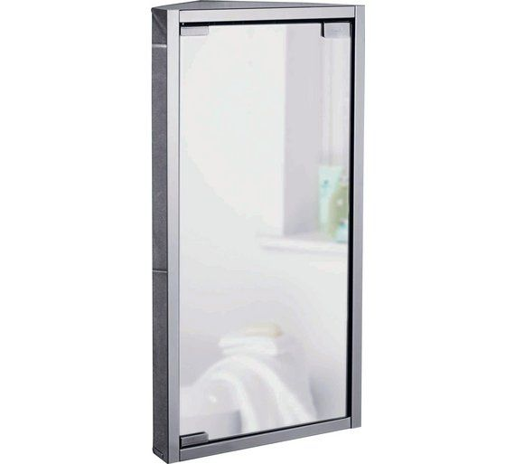 Buy Argos Home Stainless Steel 1 Door Mirrored Cabinet Bathroom Wall Cabinets Argos Mirror Cabinets Bathroom Corner Cabinet Bathroom Mirror Cabinet
