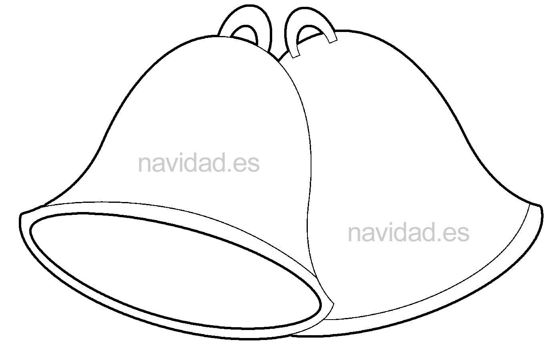 campanas-navideñas-para-colorear-y-recortar.jpg (1389×870) | Navidad ...
