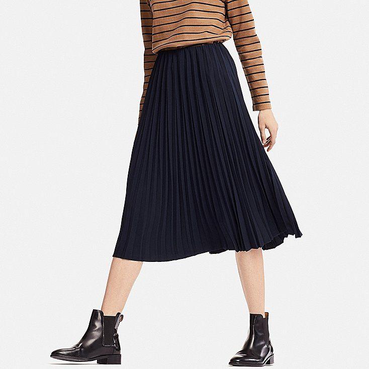 00d4ac1b885b Women high-waist crepe pleated skirt in 2019