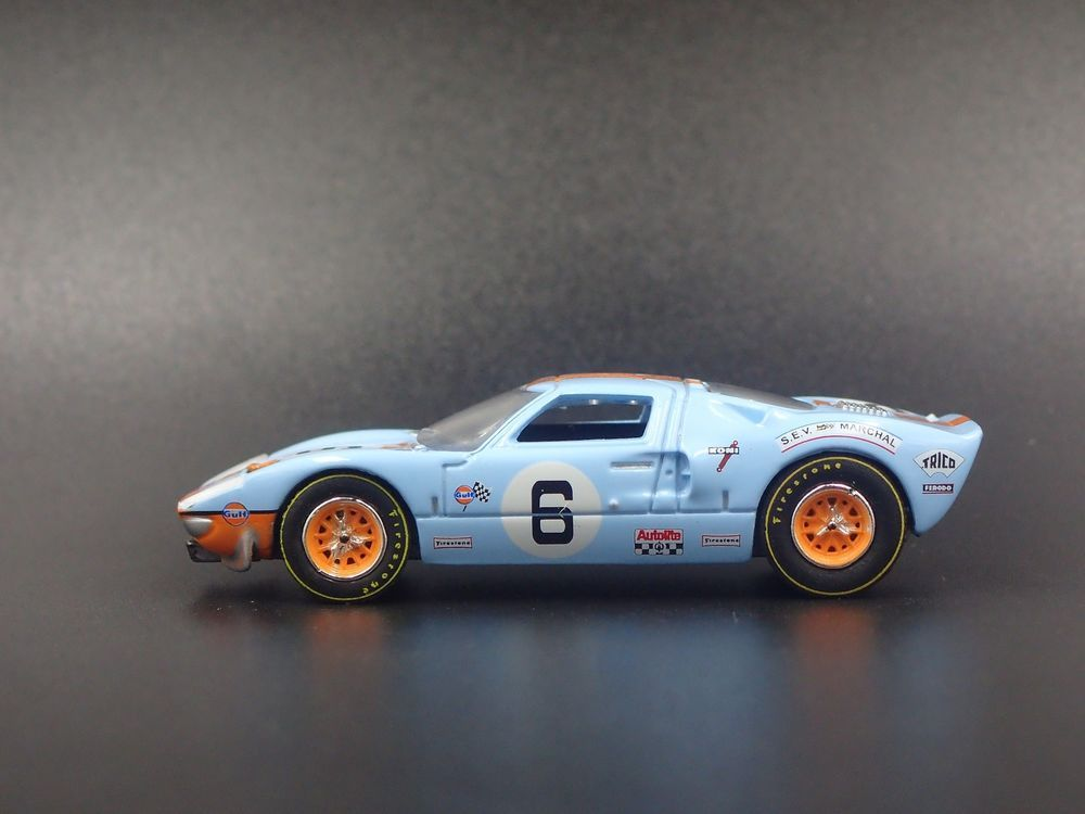 1965 Ford Gt40 Gulf Livery 6 Rare 1 64 Scale Collectible Diecast