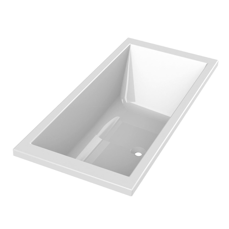 Baignoire Rectangulaire L 190x L 90 Cm Blanc Sensea Premium