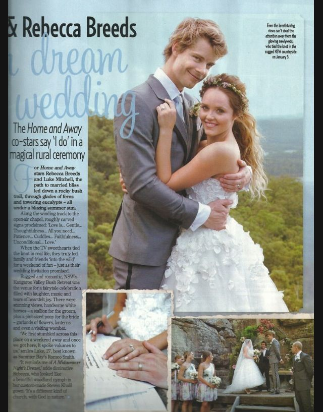 Pin By Monique Boothby On Rebecca Breeds And Luke Mitchell S Wedding Pinterest