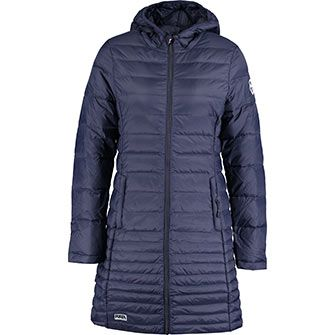 Puffa Blue Long Puffa Quilted Coat