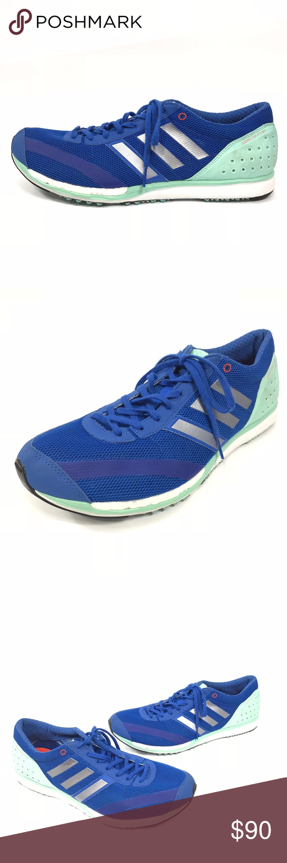 01702883b06 Adidas AdiZero Takumi Sen Running Training Shoes Adidas Mens AdiZero Takumi  Sen Running Training Shoes Blue