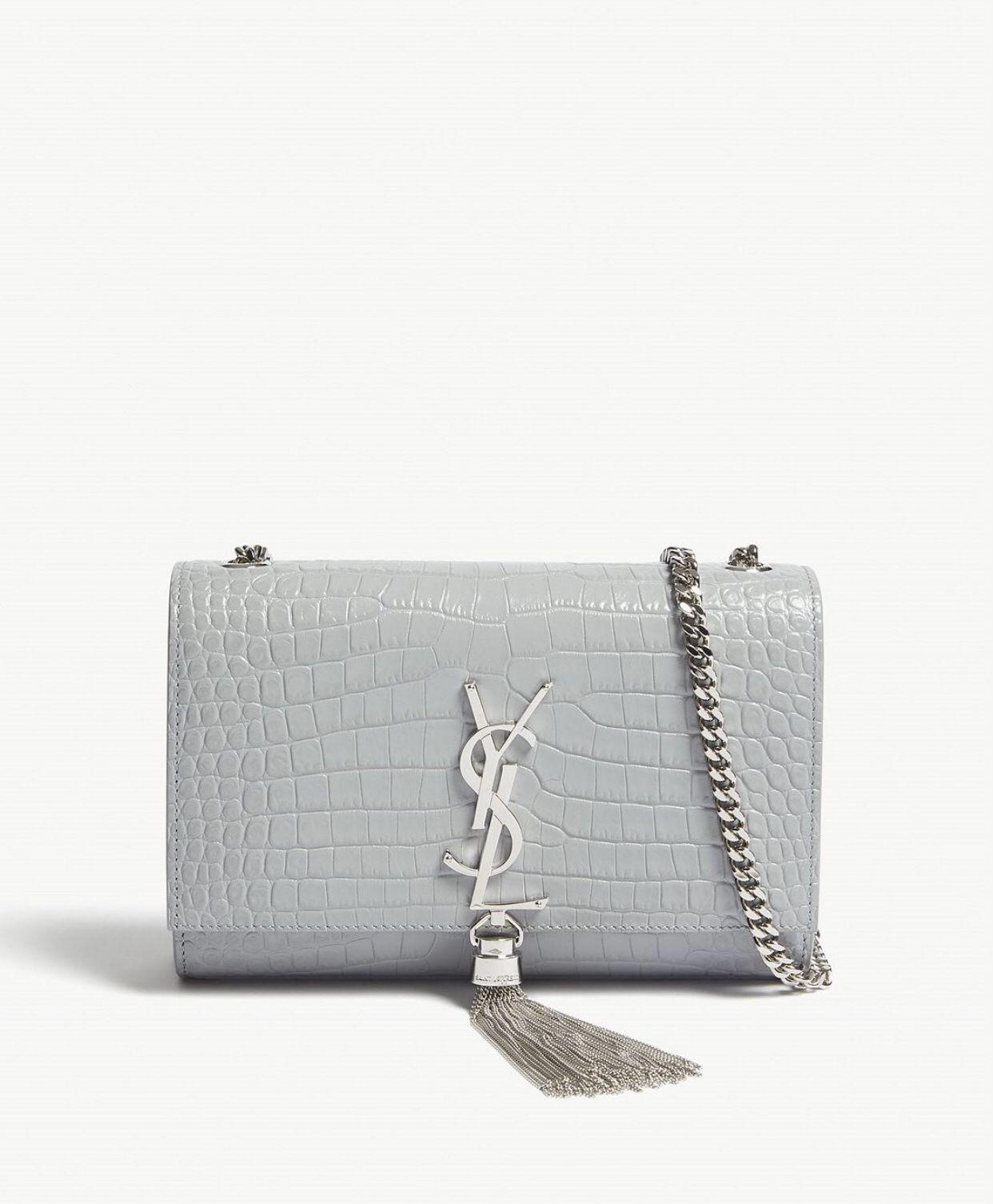 Kate small tassel croc embossed leather shoulder bag-cloud  37d910b786d8a