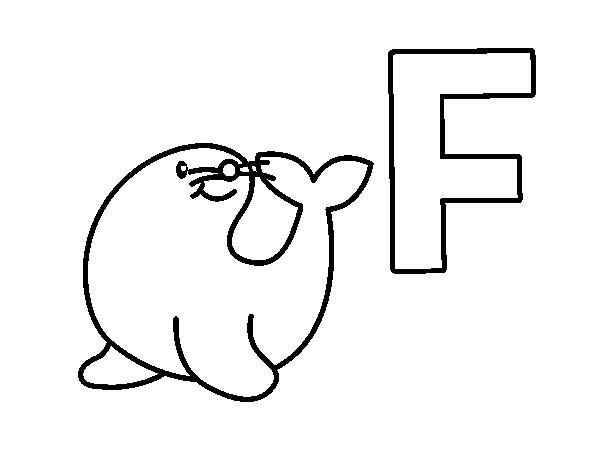 Dibujo del Abecedario - Letra F para colorear | dibujos.net | Pinterest
