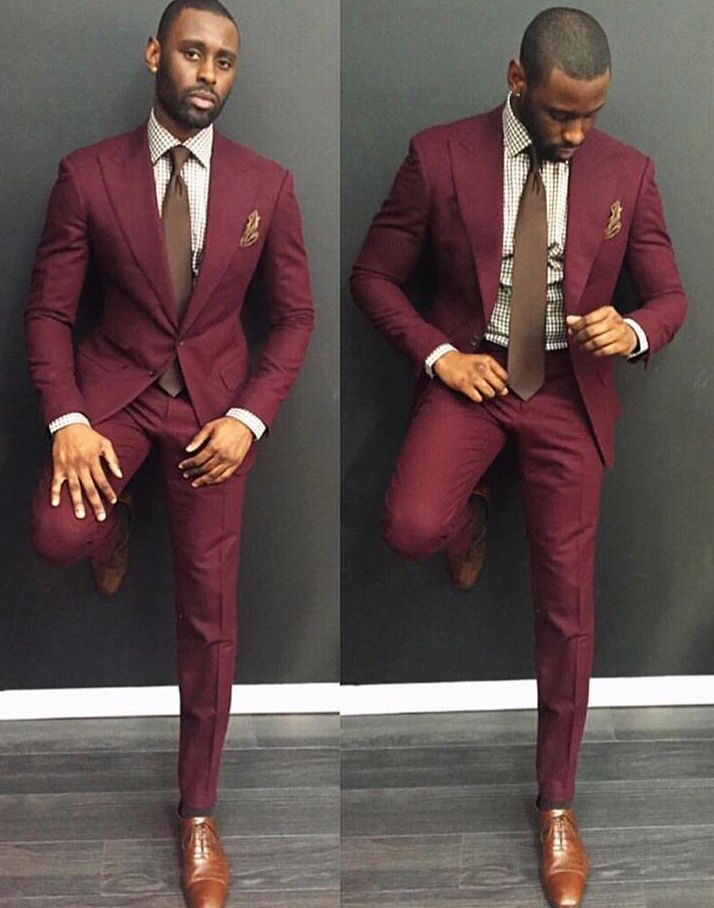 Bold Retro Maroon Color And Slim Fit Makes For A Sleek