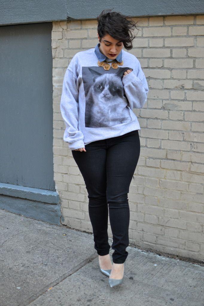 NADIA ABOULHOSN: The Grumpy Cat | Fashion Bloggers | Pinterest ...