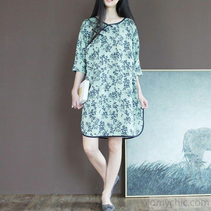 6697462a9d0 Top quality cotton sundress light green unique summer shift dresses shirt maternity  dress