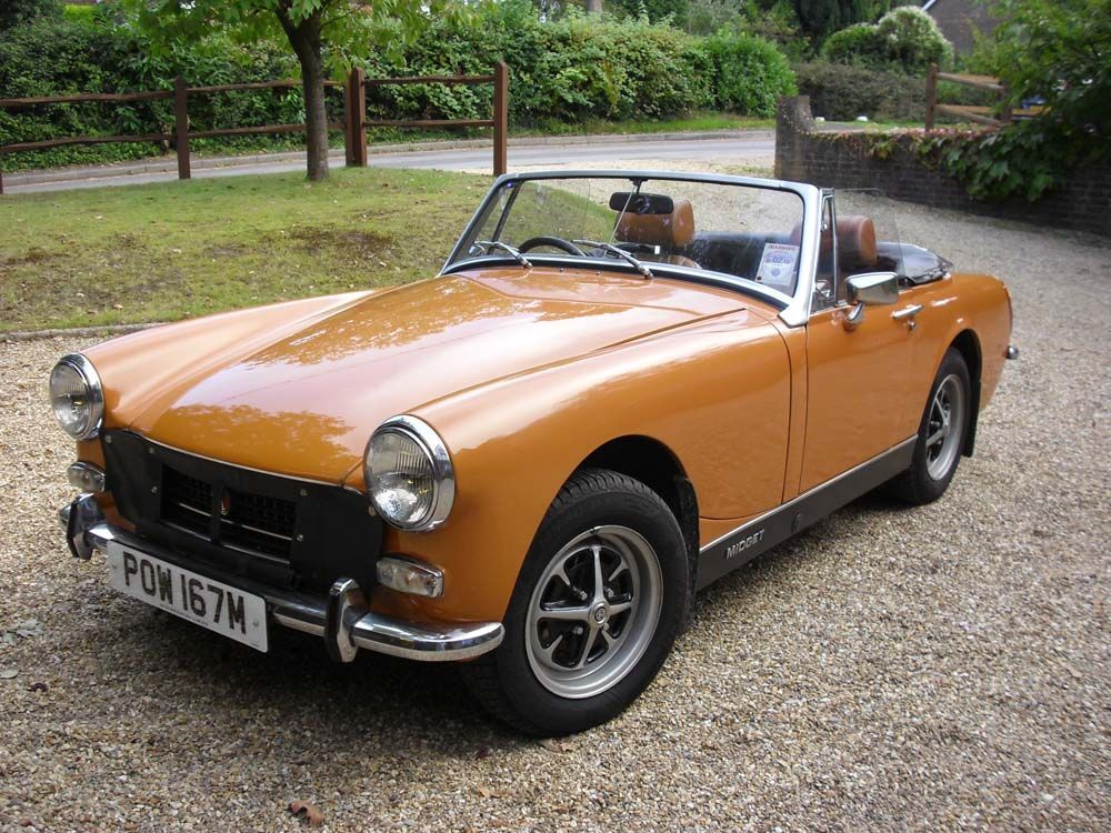 Totally automobile mg midget woman, her