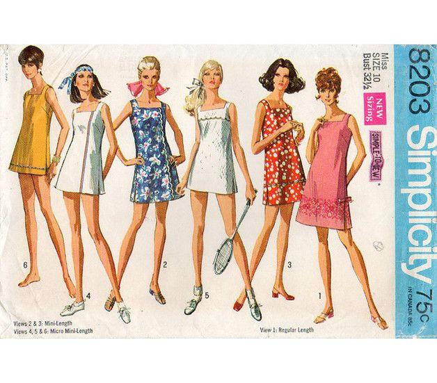 1969 US-Schnittmuster: Kleider (Gr.36) | Papierschablonen ...