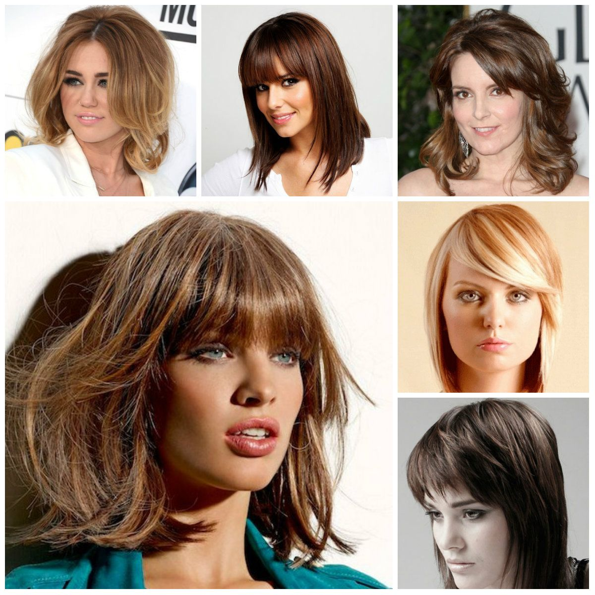 2017 Bang Hairstyles For Medium Hair
