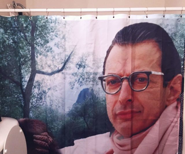 Jeff Goldblum Shower Curtain With Images Shower Curtain Nicholas Cage Face Patterned Throw Pillows